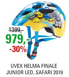 UVEX HELMA FINALE JUNIOR LED, SAFARI 2019