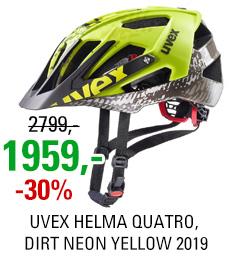 UVEX HELMA QUATRO, DIRT NEON YELLOW 2019