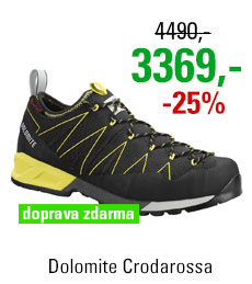 Dolomite Crodarossa Black/Lime Green