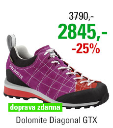 Dolomite Diagonal GTX Women Pansy Purple/Hibiscus Red