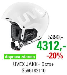 UVEX JAKK+ Octo+ white mat shiny S566182110