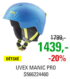 UVEX MANIC PRO blue-lime mat S566224460