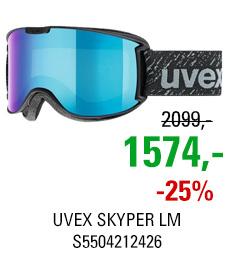 UVEX SKYPER LM black mat/ltm blue clear S5504212426