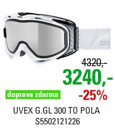 UVEX G.GL 300 TAKE OFF POLA OTG white/mir silver pola brown/clear S5502121226