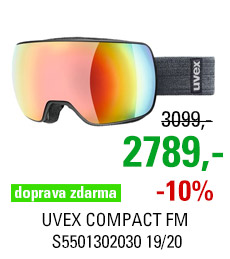 UVEX COMPACT FM black mat/mir rainbow rose S5501302030 19/20