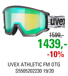 UVEX ATHLETIC FM OTG black mat/mir green lgl S5505202230 19/20