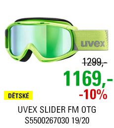 UVEX SLIDER FM OTG lightgreen dl/mir green lgl S5500267030 19/20
