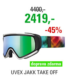 UVEX JAKK TAKE OFF white mat/litemirror green S5504311226 16/17