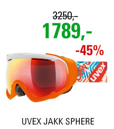 UVEX JAKK SPHERE white-orange mat/mir red clear S5504321326 17/18