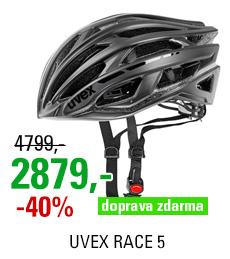 UVEX RACE 5, BLACK MAT/SHINY