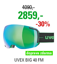 UVEX BIG 40 FM black-green mat dl/mir green clear S5504417226 18/19