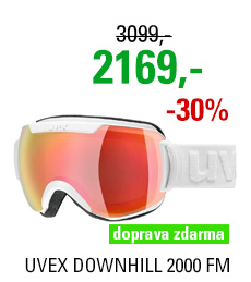 UVEX DOWNHILL 2000 FM white mat dl/mir red lgl S5501151130