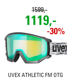UVEX ATHLETIC FM OTG black mat/mir green lgl S5505202230 19/20