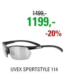 UVEX SPORTSTYLE 114, BLACK MAT (2216) 2020