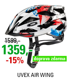 UVEX AIR WING, WHITE-RED