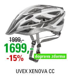 UVEX XENOVA CC, WHITE-DARK SILVER MAT
