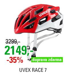 UVEX HELMA RACE 7, RED WHITE 18/19