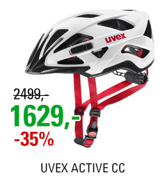 UVEX HELMA ACTIVE CC, WHITE BLACK-RED MAT 18/19