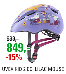 UVEX KID 2 CC, LILAC MOUSE MAT 2020
