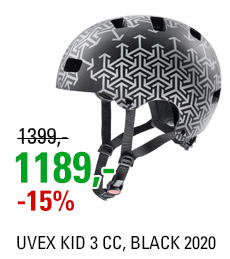 UVEX KID 3 CC, BLACK 2020