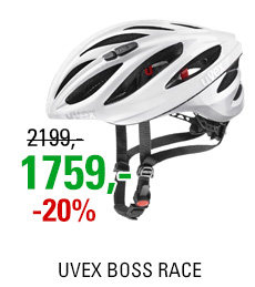 UVEX BOSS RACE, WHITE-SILVER 2020