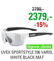UVEX SPORTSTYLE 706 VARIO, WHITE BLACK MAT (8201) 2020
