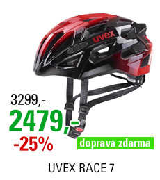 UVEX RACE 7, BLACK RED 2020