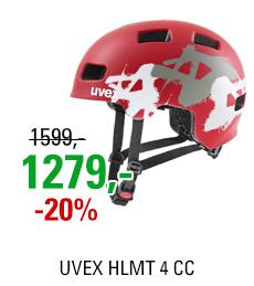 UVEX HLMT 4 CC, RED MAT GRAFFITI 2020