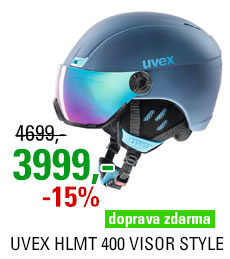 UVEX HLMT 400 VISOR STYLE navyblue mat S566215400 20/21
