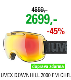 UVEX DOWNHILL 2000 FM CHROME yellow chrome S5501126026