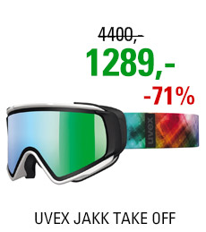 UVEX JAKK TAKE OFF white mat/litemirror green S5504311226