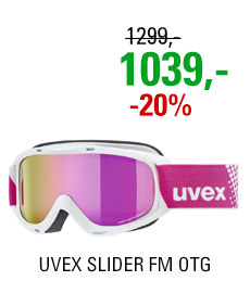 UVEX SLIDER FM OTG white mirror pink/lgl S5500261030 20/21