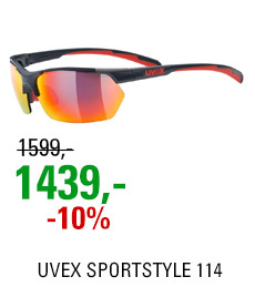 UVEX SPORTSTYLE 114, GREY RED MAT (5316) 2021
