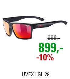 UVEX LGL 29, BLACK MAT/MIR. RED (2213) 2021