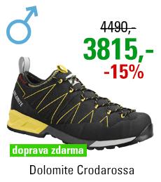 Dolomite Crodarossa Black/Lime Green