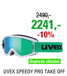 UVEX SPEEDY PRO TAKE OFF, white-green/ltm green S5538231726