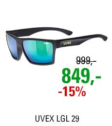 UVEX LGL 29, BLACK MAT/ MIR. GREEN (2215) 2021
