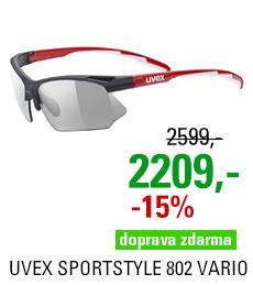 UVEX SPORTSTYLE 802 VARIO, BLACK RED WHITE (2301) 2021