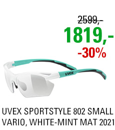 UVEX SPORTSTYLE 802 SMALL VARIO, WHITE-MINT MAT (8701) 2021