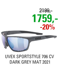 UVEX SPORTSTYLE 706 CV, DARK GREY MAT (5596) 2021