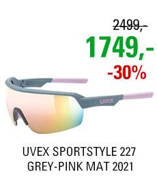 UVEX SPORTSTYLE 227, GREY-PINK MAT (5316) 2021