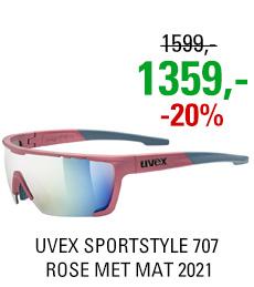 UVEX SPORTSTYLE 707, ROSE MET MAT (3316) 2021