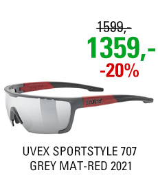UVEX SPORTSTYLE 707, GREY MAT-RED (5316) 2021