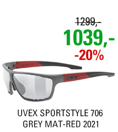 UVEX SPORTSTYLE 706, GREY MAT-RED (5316) 2021