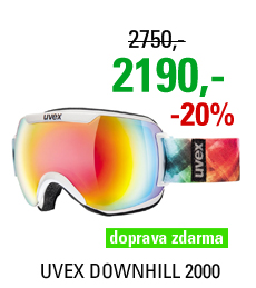 UVEX DOWNHILL 2000, white dl/litemirror rainbow S5501091526
