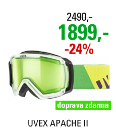 UVEX APACHE II, transculent mat/glow green
