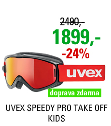 UVEX SPEEDY PRO TAKE OFF, black red/litemirror red S5538232026