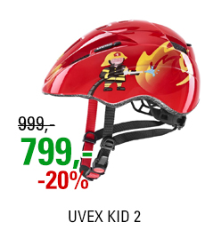 UVEX KID 2, RED FIREMAN 2021